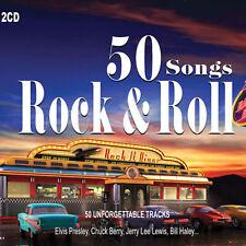 2CD 50 Songs Rock & Roll Elvis Presley Fast Domino Chuck Berry  Rock Roll Music