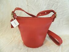 Vtd Deadstock Coach Maggie Duffle crossbody bag tag red leather