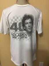 RARE Ayrton Senna Formula 1 McLaren Racing Sports White Shirt / 40th Anniversary