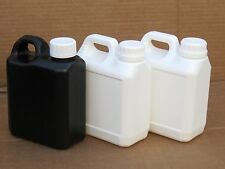 3X Easy Store / Easy Pour Darkroom Chemical Storage Bottles - 1L (1x B 2x W)