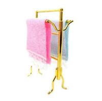 3Pcs Set 1:12 Dollhouse Miniature Furniture Bathroom Washing Room Towels Rack