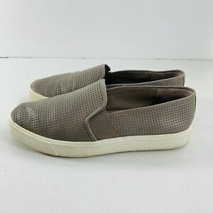 Womens Vince Blair Taupe Leather Sneakers Flats Casual Shoes Slip On Size 7.5