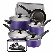 Non Stick Cookware Set Pots And Pans Aluminum Coating 15 Piece Cooking Kitchen