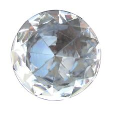 Big 60mm Crystal Clear 60 mm Cut Glass Large Giant Diamond Jewel Paperweight Gem