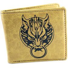 Final Fantasy Cloud wolf Claude Logo Two-fold Wallet purse money clip