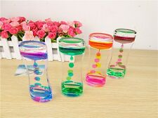 Color Mix Floating Illusion Timer Liquid Visual Desktop Toy Motion Oil Dropper