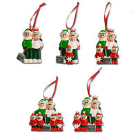 Personalised Family Christmas Tree Hanging Decoration Ornament - Shovel 2 to 6