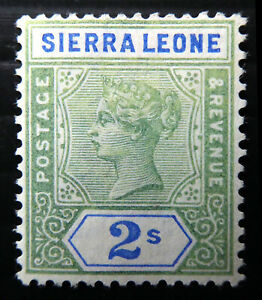 SIERRA LEONE 1896 - 2/- SG51 Unused No Gum DK116