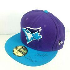 Signed #15 #10 Toronto Blue Jays Baseball Cap 7 3/8 New Era 59Fifty Autographed
