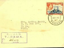 GILBERTS KGVI Cover *Tarawa* Registered 2s High Values Suva Fiji 1947W295a