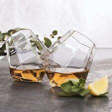 Lot 2 Verres à Whisky Diamant Diamond Glasses Whiskey Rhum Degustation Apéritif