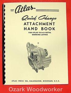 "ATLAS Quick Gear Change Handbook for 10 ""Lathe Manual 0042"