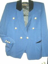 LUXUS SAMT EDEL ESCADA JANKER Blazer Reit Jacket ROYAL BLAU 36/38 STATEMENT gold