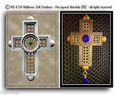 © ART - Ltd.Ed. set of 2x Celtic Knot Cross Christian ACEO collector card by Di