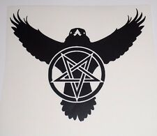 Wall Sticker custom Vinyl indoor decal window removable Inverted crow Pentacle