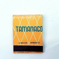 Vintage New Old Stock Tamanaco Hotel Caracas Matchbook- Unused Advertising