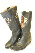 Rancho Hand Made Womens Size US 7.5 MX 24.5 Leather CutOut Square Toe Boots 1050