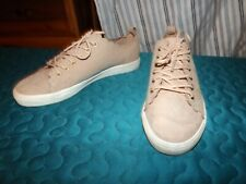 H&M DUSKY PINK CASUAL LACE UP FLAT TRAINERS SIZE UK 5 VGC
