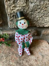 Vintage Inspired Mini Snowman Knee Hugger Ornament Custom OOAK