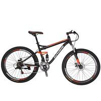 "S7 Full Suspension Mountain Bike 21 Speed Mens Bicycle 27.5"" bikes MTB Present"