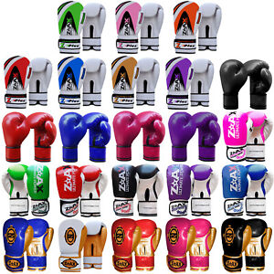Junior Kids Boxing Gloves Sparring Punchbag Leather Gloves Children 4,6,8 OZ