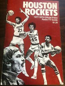 NBA BASKETBALL HOUSTON ROCKETS PRESS RADIO TV GUIDE 1977-78 EXCELLENT CONDITION