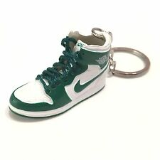 madxo 3D mini sneaker keychain Air Jordan 1 Retro white green 1:6 MICHAEL 05-13