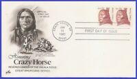 USA3 #1855 U/A ARTCRAFT FDC STR2  Crazy Horse