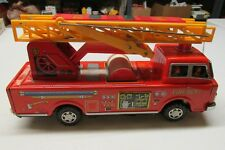 BATTERY OPERATED JAPANESE TIN FIRE LADDER TRUCK