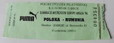 Ticket for collectors EURO q * Poland - Romania 1995 Zabrze