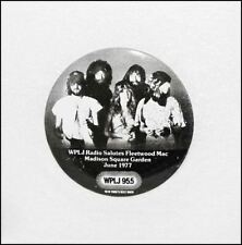 Fleetwood Mac 1977 Madison Square Garden Tour Button Pin Badge Wplj Radio Promo