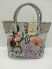 Anuschka Tall Tote With Double Handle Bel Fiori 609-BLF