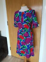 Ladies Dress Size 14 TU Blue Red Smart Party Evening Wedding Races