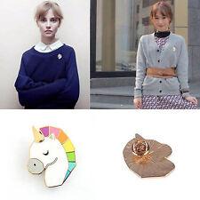 Cabeza de caballo bonita unicornio forma corsé camisa collares broche