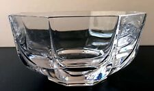 Set FOUR Crystal Sevres French Eight Sided Small Glass Serving Bowls