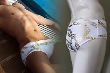 V32 Cuban Swimwear - White /Gold Mens Swimwear trunks, Briefs 2EROS, Gay Int  XS
