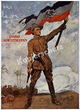 Heilemann Deutsch-Ostafrika Schutztruppe Kolonialkrieg Reichsfahne Askari 1918