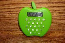 Lime Green APPLE Design 8-digit Calculator includes LR1130 Battery / New