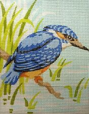 """""""Kingfisher"""" Printed Needlepoint Tapestry Canvas 3314"""