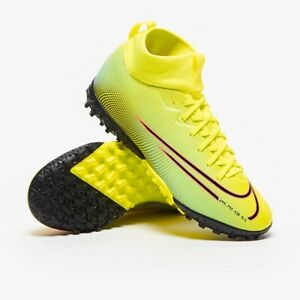 Nike Jr Mercurial Superfly 7 Academy MDS TF Turf Soccer Shoes Sizes Yellow-Black