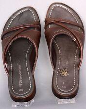Tamaris Damen Sandale Grösse 39 Leder Braun