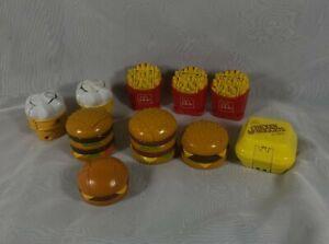 Lot of 10 Vintage McDonald's Changeables McRobots   Food  Transforming Toys