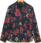 Laura Ashley Cotton & Spandex Patriotic Red, White, and Blue Print Jacket Size L