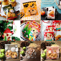 Halloween Christmas Xmas Cello Cellophane Party Favour Sweet Biscuit Gift Bags