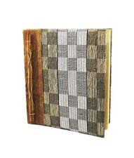 """Fibra NATURALE & Fatto a Mano Carta notebook, Grigi & Marrone, 25 x 22cm (10x8.5"""")"""