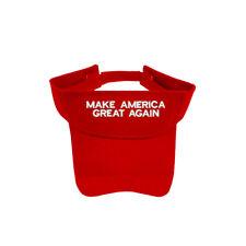 MAKE AMERICA GREAT AGAIN RED SUN VISOR ADJUSTABLE TYPE