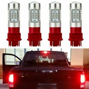 4XPure Red 3057 3157 3157K LED Rear Brake Stop Turn Signal Lamp Tail Light Bulbs