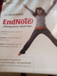 Sealed Thomson EndNote Bibliographies Made Easy For Students Windows and Mac OS