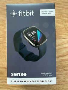 Fitbit Sense Activity Tracker - Carbon/Graphite Stainless Steel