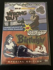Something Weird Video The Wrong Rut / Birthright DVD Sealed